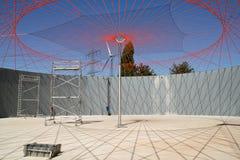 Solar de la planta del biogás Imagen de archivo