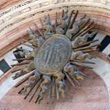 Solar disc at the entrance to the Duomo, Siena, Italy Stock Photography