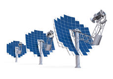 Solar Dish Engine Stock Image