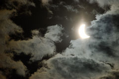 Solar eclipce (two) Stock Photo