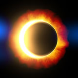 Solar eclips. Illustration of a solar eclipse of the sun Royalty Free Stock Photos