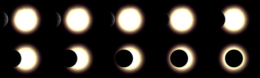 Solar eclipse. 3d rendered series Stock Photo