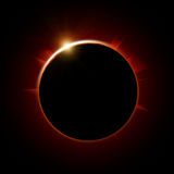 Solar eclipse. Abstract illustration of solar eclipse stock illustration