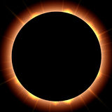 Solar eclipse. Cosmos  background: astronomy solar eclipse Stock Photo