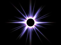 Solar Eclipse. That is making with Terragen from a wallpaper stock photo