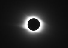Solar eclipse. Full solar eclipse with corona Stock Photo