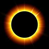 Solar eclipse vector illustration