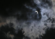 Solar eclipse at 70 phase. Solar eclipse at 70% phase on 29-march-2006 in Romania Stock Image