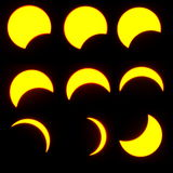 Solar eclipse. On March 29, 2006 (9 phases Stock Image