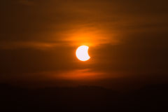 Solar eclipse astronomical Scientific background Stock Photography