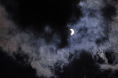 Solar Eclipse At 70 Phase Stock Photography
