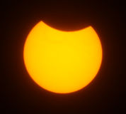 Solar eclipse for a background 1.08.08. Royalty Free Stock Image