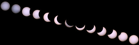 Solar eclipse for a background 20.03.15. Stock Images