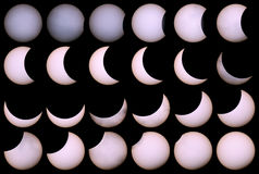 Solar eclipse for a background 20.03.15. Royalty Free Stock Photo