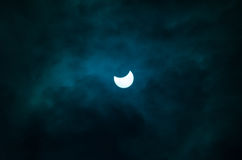 Solar Eclipse. In Catania Royalty Free Stock Images