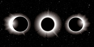 Solar eclipse illustration Stock Images