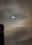 Solar Eclipse - January 4th 2011 stock photography