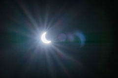 Solar eclipse with light effects backgrounds Royalty Free Stock Images