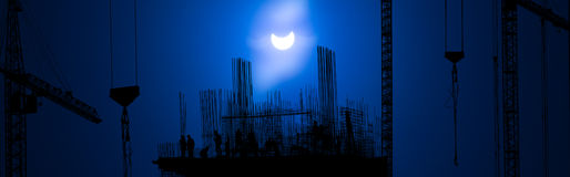 Solar Eclipse 20 march 2015 (2015/03/20) Royalty Free Stock Photography