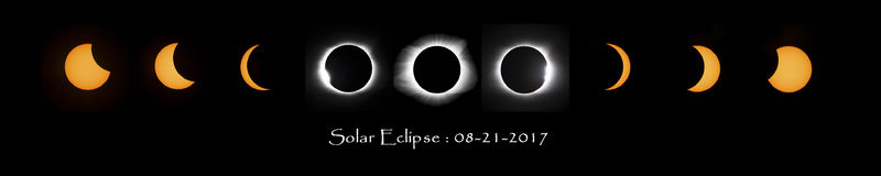 Solar eclipse montage Stock Images