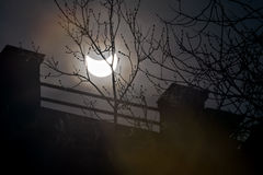 Solar eclipse in Moscow, 20 march 2015. Royalty Free Stock Photo