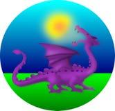 Solar eclipse. Myth of the solar eclipse - dragon eating the sun stock illustration