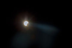 Solar eclipse, New York NY august 21 2017 Royalty Free Stock Image