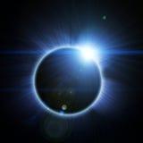 Solar Eclipse On A Black Stock Photos