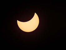 Solar eclipse phenomenon, real photo Stock Photo