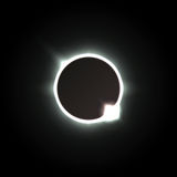 Solar eclipse. Shadow of the moon, and the aura of solar corona. Solar eclipse. Vector illustration. Shadow of the moon, and the aura of solar corona Royalty Free Stock Image
