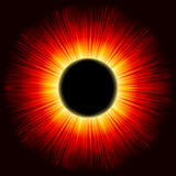 Solar eclipse shine light. EPS 8 Royalty Free Stock Photography
