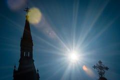 Solar eclipse 2015, Slovakia Stock Photos
