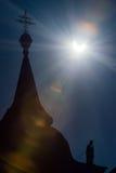 Solar eclipse 2015, Slovakia Stock Image