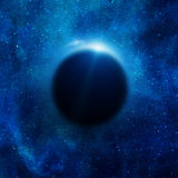 Solar eclipse in space Royalty Free Stock Image