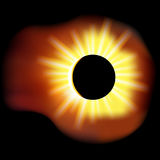 Solar eclipse vector illustration on black background with transparency Stock Image