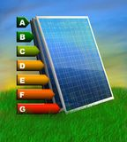 Solar efficiency Royalty Free Stock Images