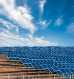 Solar electricity plant Royalty Free Stock Image