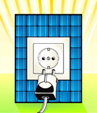 Solar electricity power point Stock Photo