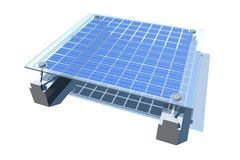 Solar Enegy. A solar panel, to love the environment. modern energy Royalty Free Stock Image