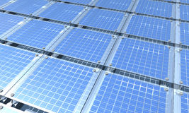 Solar Enegy. A solar panel, to love the environment. modern energy Stock Photos
