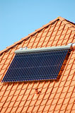 Solar energie on a roof Stock Image