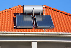 Solar energy. Solar cells for ecological energy stock images