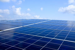 Solar panels. For power and energy Stock Images