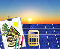 Solar energy. Is an alternative and renewable source of electricity and cost effective Royalty Free Stock Photos