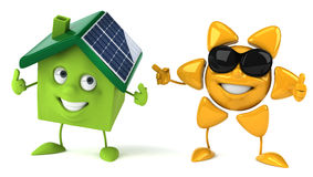 Solar energy. 3d generated picture Stock Photo