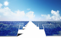 Solar energy Royalty Free Stock Photo