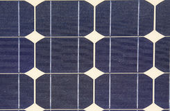 SOLAR ENERGY. Details of the plates of a solar panel Stock Image
