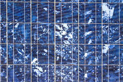 SOLAR ENERGY. Details of the plates of a solar panel Royalty Free Stock Image