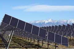 Solar Energy. A huge array of solar panels in Southern Colorado, USA Stock Photo