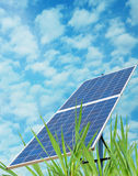Solar energy. A solar environment station energy Stock Photography